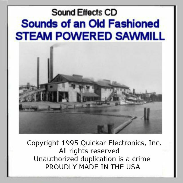 SOUNDS OF A SAWMILL SOUND EFFECTS CD FOR S SCALE MODEL RAILROADS