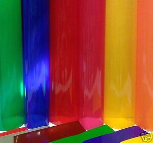 A4 Roll Sheet Transparent Coloured Window Film Self
