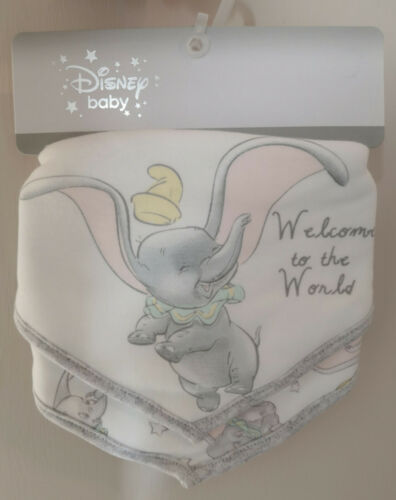 Disney baby Dumbo Bandana Bavoirs Lot De 2 Bnwt