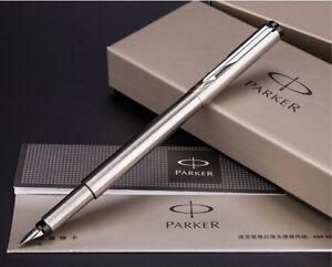 Parker IM Calligraphy Vector Matte Black Color Fountain Pen 0.5mm Fine Nib Pen