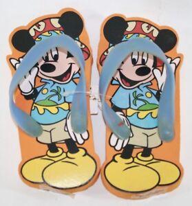 Toddler Girls Minnie Mouse Sandals Large 9-10 Flip Flops Shoes Disney Summer
