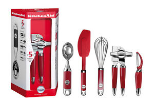 Kitchenaid 5tlg K 252 Chenhelfer Set Empire Rot Km412er