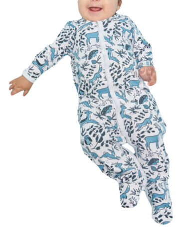 ROBERTA ROLLER RABBIT Infant Chambray Winterland Footie Pajamas $55 NEW