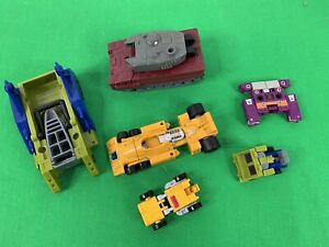 lot of 6 misc Hasbro Transformers, 1987, 1988 mini's, Targetmaster Quake,