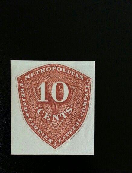 1855 10c Metropolitan Errand & Carrier Express Co., New