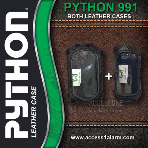 Python 991 Protective Leather Remote Control Case For Both Remote Controls