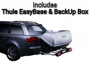 Image is loading Thule-EasyBase-&-BackUp-Cargo-Box-420l-Tow-  sc 1 st  eBay & Thule EasyBase u0026 BackUp Cargo Box 420l Tow Bar Ball Mounted Storage ...