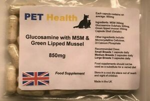 Glucosamine-MSM-and-Green-Lipped-Mussel-30-x-850mg-for-Dogs-Cats-Pets-Joint-Pain