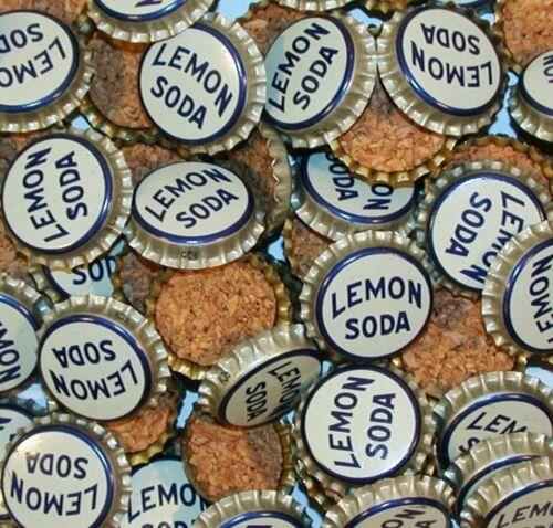 Soda pop bottle caps Lot of 25 AMERICAN LEMON SODA cork unused new old stock