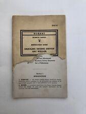 Vintage Hobart Welder Instruction Manual Ew 97