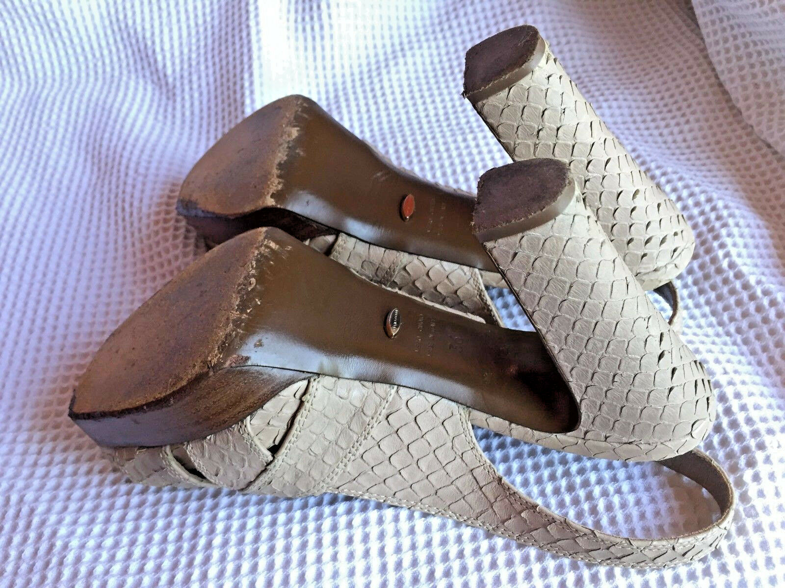 Sandals Sergio Rossi  Leather snake skin skin skin effect Block-Heel  Size  IT 36 USA 5.5 2e906a