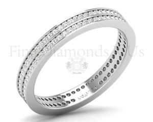 3MM Round Brilliant Cut Diamonds Double Row Full Eternity Ring in 950Platinum