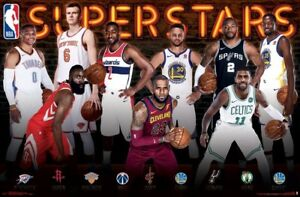 "NBA 2018 SUPERSTARS POSTER ""LICENSED"" (61X91.5cm) LeBRON JAMES K DURANT S CURRY"