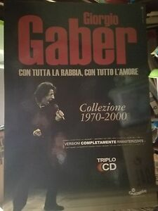 NO-CD-LP-GIORGIO-GABER-cartonato-pubblicitario-rigido-COLLEZIONE-1970-2000
