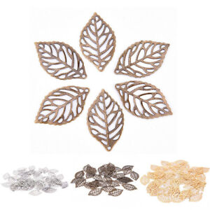 50Pcs-Hollow-Filigree-Leaf-Metal-Crafts-DIY-Making-Jewelry-Accessories-Findings