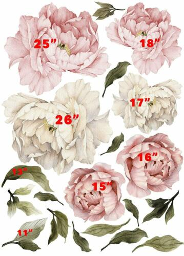 Floral peonies wall decal peony bouquet flowers removable peel and stick Wall