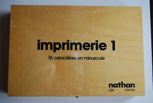 Caissette Imprimerie 1 - 76 Caractère En Minuscule ( Rare )