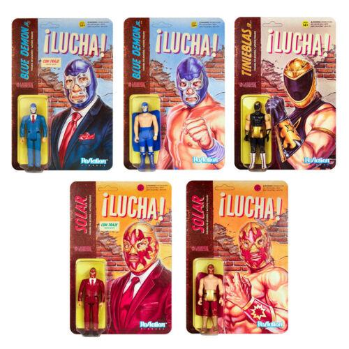 Legends LUCHA LIBRE Set of 5 pieces ReAction 3 3//4-Inch Retro Action Figures