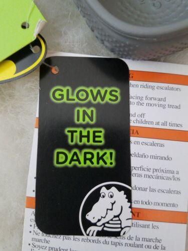 NWT CROCS Fun Lab Batman Glow in the Dark Toddler Boys Clogs Smoke SELECT SIZE