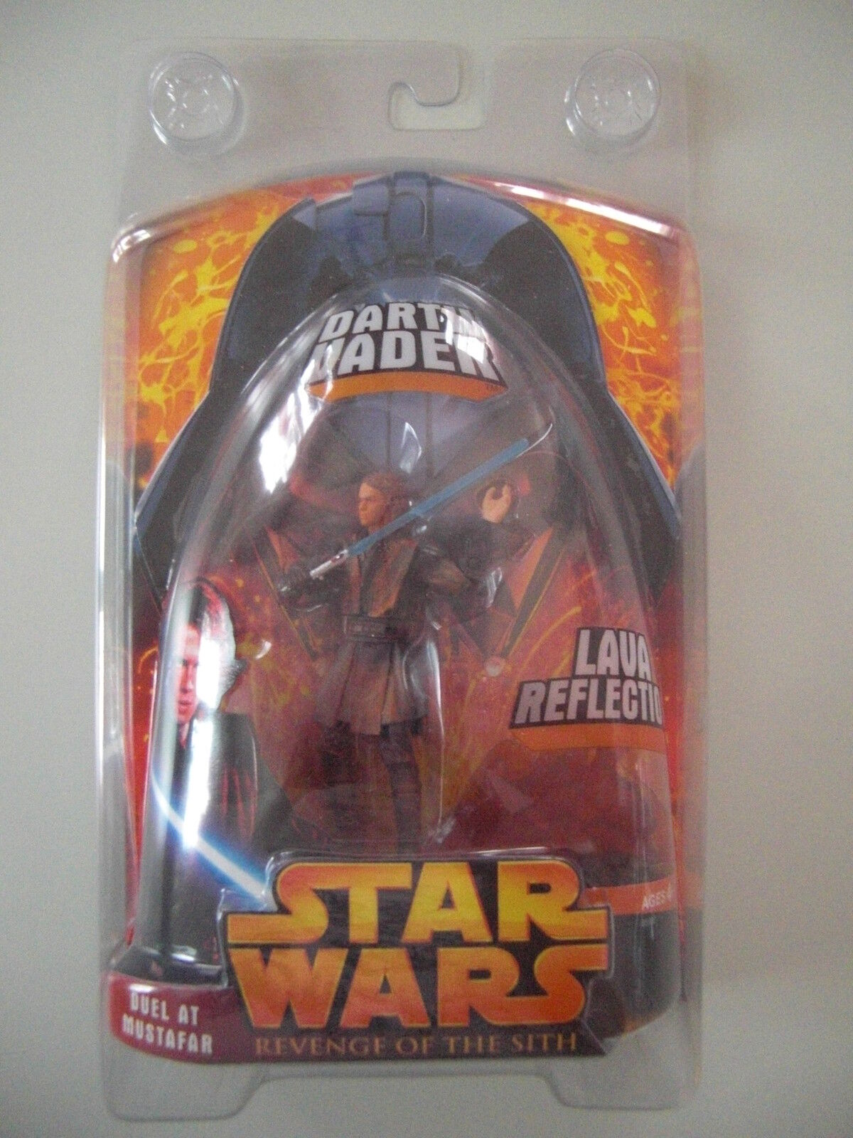 STAR WARS FIGURINE DARTH VADER DUEL AT MUSTAFAR SOUS BLISTER RARE NEUF