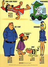 Hanna Barbera STYLE GUIDE PLATE - HONG KONG PHOOEY GANG COLOR GUIDE