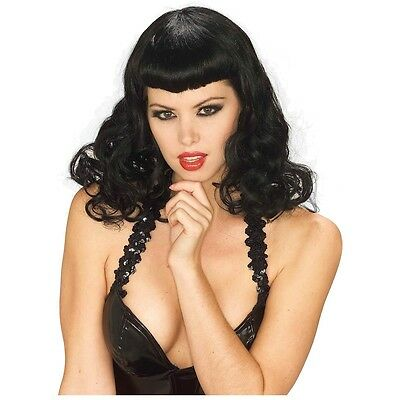 Pin-Up Girl Wig Adult Womens Bettie Paige 50s Halloween Costume Acsy Fancy Dress