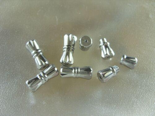 6 tapas cadenas cierre cierre roscado 11 x 4,5 mm silberf.