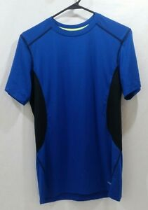 Tek-Gear-Dri-Fit-Workout-Fitness-Shirt-Gym-Mens-Blue-and-Black-Lime-Green-Size-L