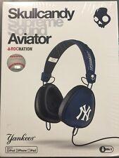 $200 Skullcandy Supreme Sound Aviator Headphone W Mic - New York Yankees navy