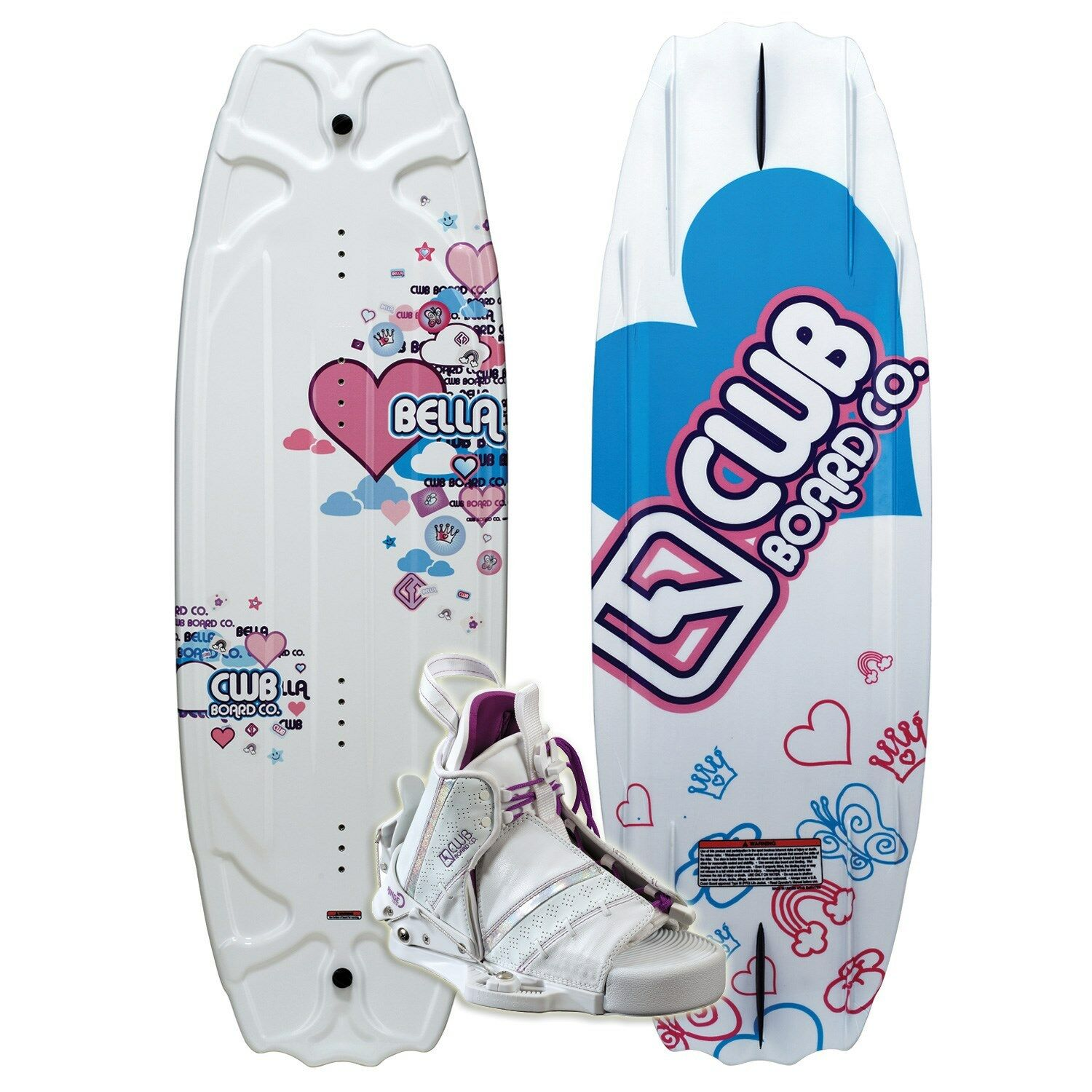 Connelly CWB BELLA Wakeboard 124 with Bliss Bindings - Brand New
