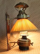 "Antique Victorian Brass Lamp - Lantern 15.1/2""Tall - Hanging Electrified"