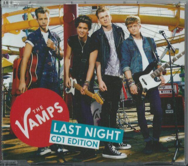 THE VAMPS - LAST NIGHT 2014 UK 4 TRACK CD1 SINGLE