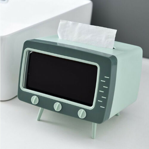 mobile phone stand desktop tissue napkin container holder rack TV tissue box