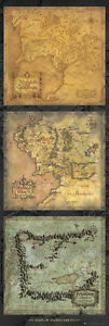 THE-LORD-OF-THE-RINGS-MOVIE-DOOR-POSTER-TRIPTYCH-MAPS-OF-MIDDLE-EARTH