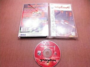 Sega-Saturn-CIB-Complete-Tested-Wipeout-Long-Box-Ships-Fast-Crack-Free-Case