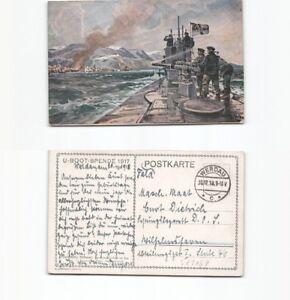 (b90273) Carte Postale Deutsches Uboot Dans Chiensde 1918 De Werdau Au-afficher Le Titre D'origine Avoir Un Style National Unique