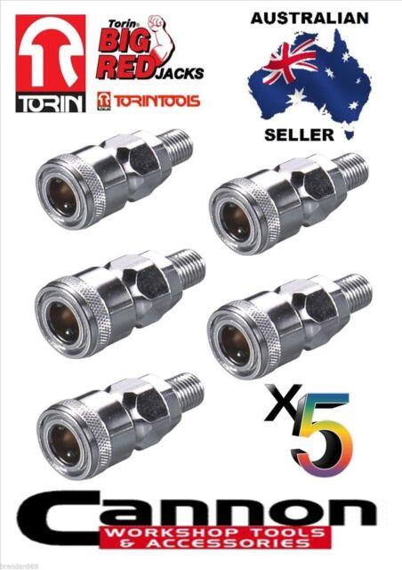 5 PCS NITTO STYLE MALE AIR FITTING AIR HOSE REEL LINE SPRAY GUN 20SM 1/4 BSP