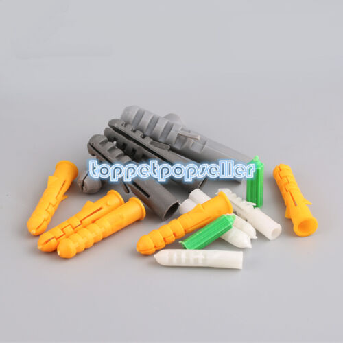 10-100Pcs Plastic Expansion Wall Plug Nylon Anchors Rubber Stopper