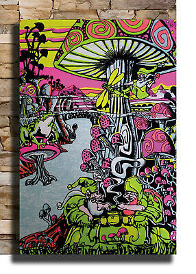 Magic Mushroom Abstract Psychedelic Trippy Cover Poster 21 24x36 E-1731