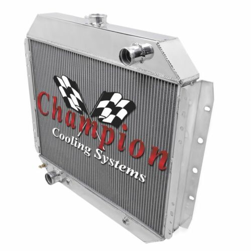 """3 Row Reliable Champion Radiator W// 16/"""" Fan for 1968-1979 Ford Truck V8 Engine"""