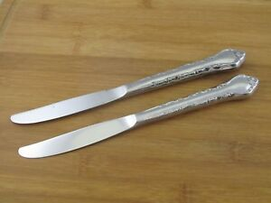 2-Two-International-Silver-Gigi-Dinner-Knives-9-1-8-034-Solid-Stainless-Flatware