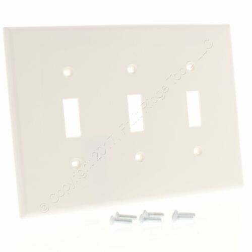 Leviton White 3Gang MIDWAY UNBREAKABLE Toggle Switch Wallplate Nylon Cover PJ3-W