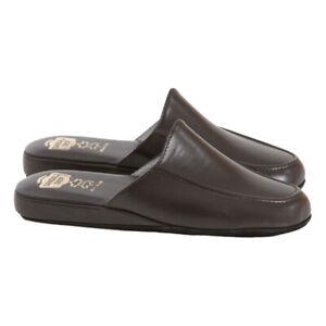 Pantofole Uomo 100% VERA PELLE Esclusive Artigianali da Viaggio Made in Italy