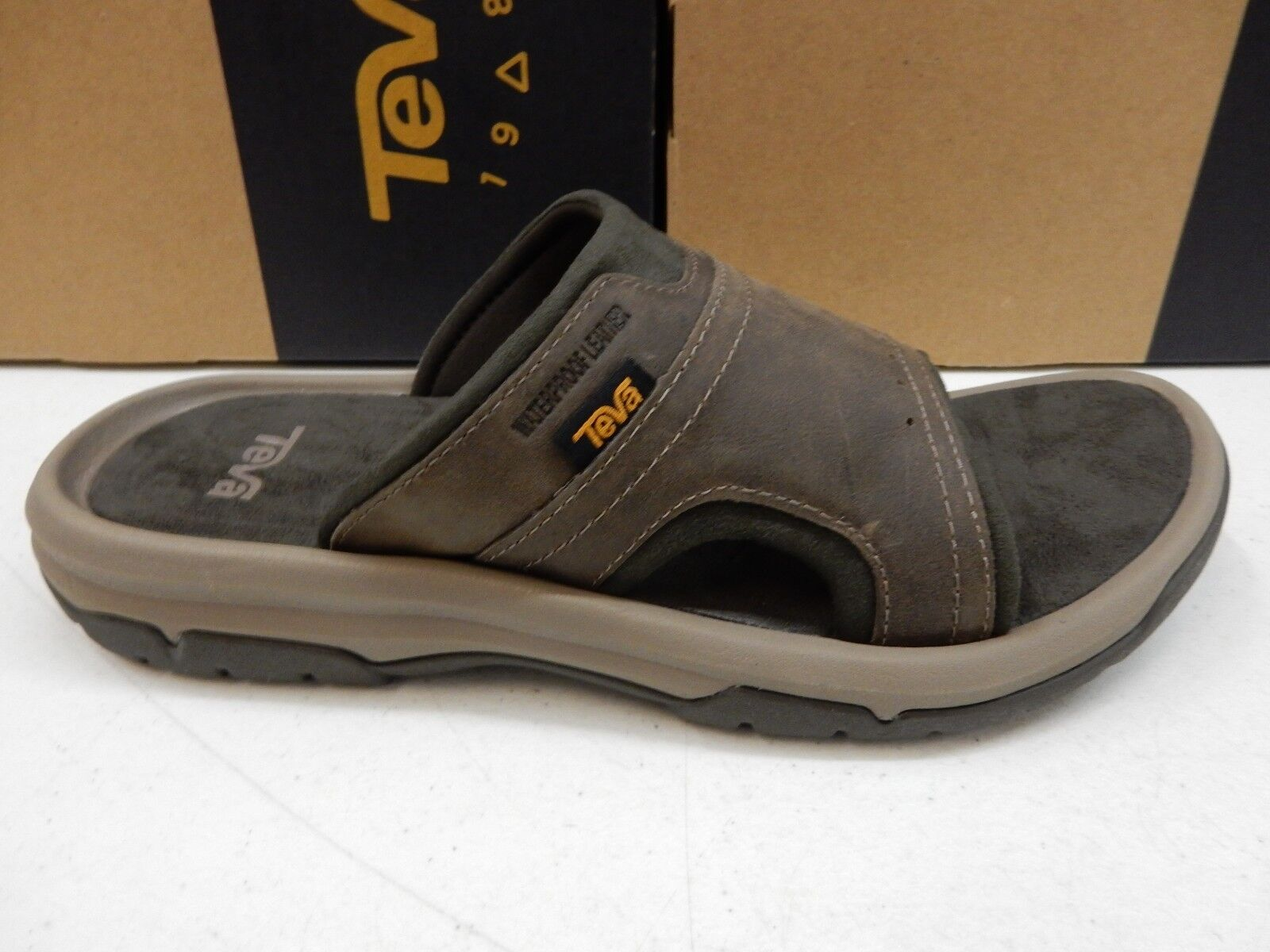 TEVA MENS SANDALS LANGDON SLIDE WALNUT SIZE 14