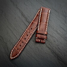 LONGINES 18mm Watch Strap BROWN Genuine Alligator SWISS MADE NOS Leather