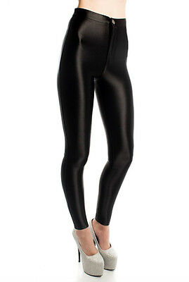 WOMENS/LADIES FASHION AMERICAN APPAREL STYLE SHINY DISCO PANTS