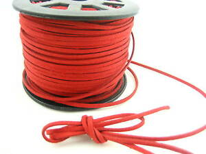 4m* Leather Cord soft Suede Lace velvet Thread DIY Bracelet Necklace findings
