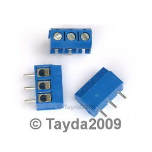 5-x-DG301-Screw-Terminal-Block-3-Positions-5mm-FREE-SHIPPING