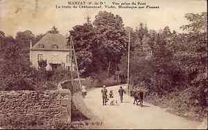63-cpa-MANZAT-Route-de-Chateauneuf-Vichy