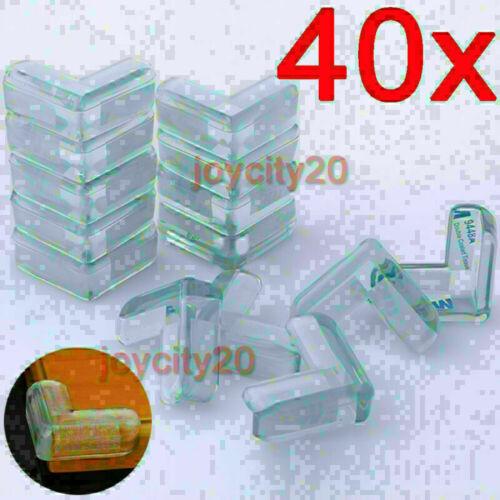 40x Eckenschutz Kantenschutz Baby Kinderschutz Silikon Glastisch Kindersicherung